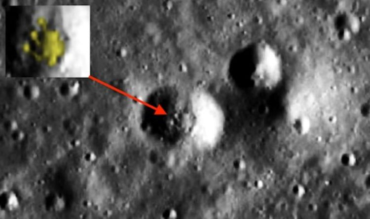 Alien hunters believe they have spotted a UFO on the Moon in NASA pics